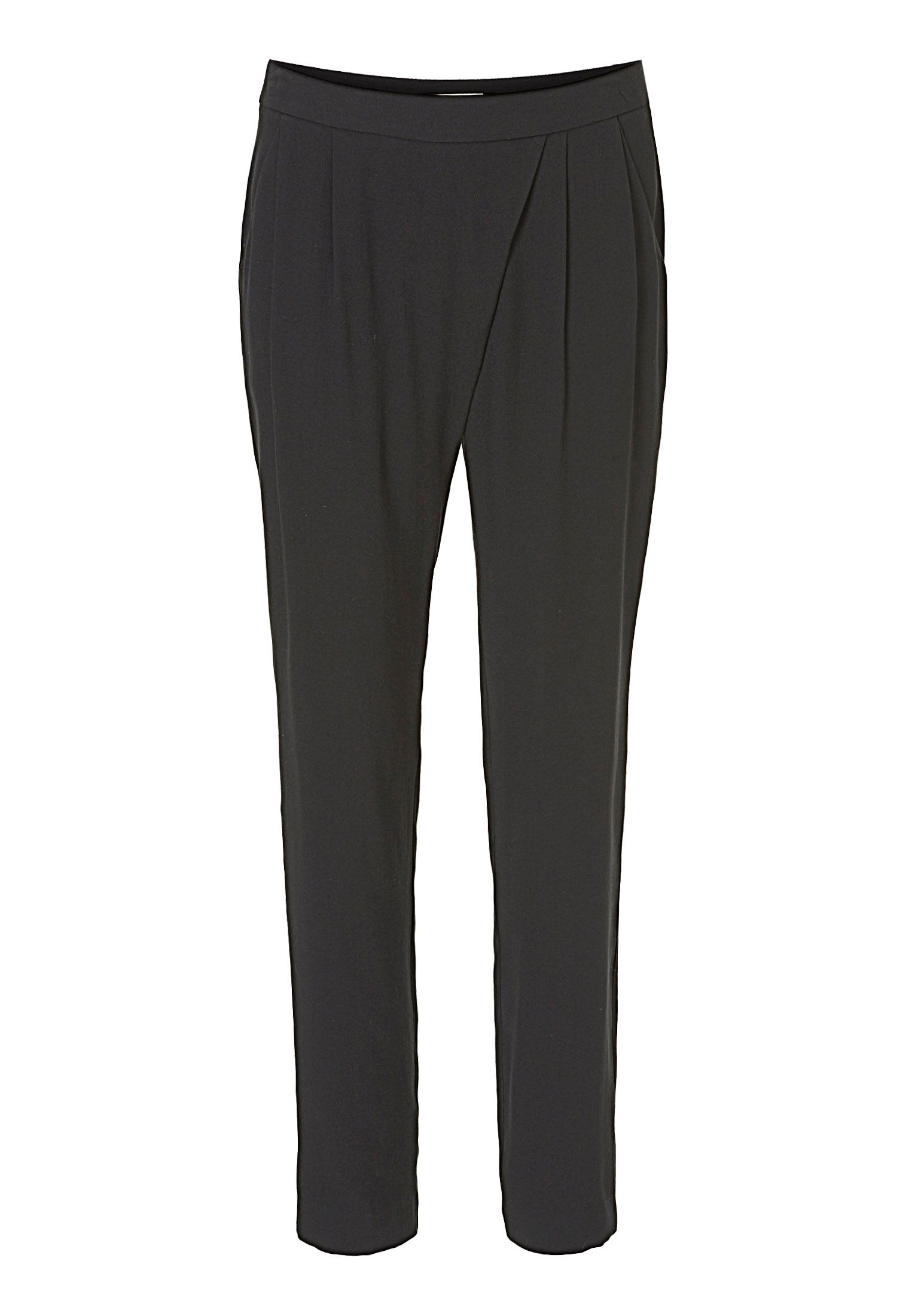 Betty & Co. Crêpe loose fit trousers, Black