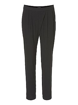 Crêpe loose fit trousers