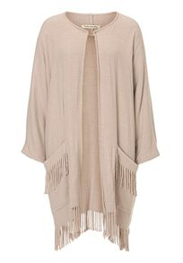 Betty Barclay Fringed blanket coat