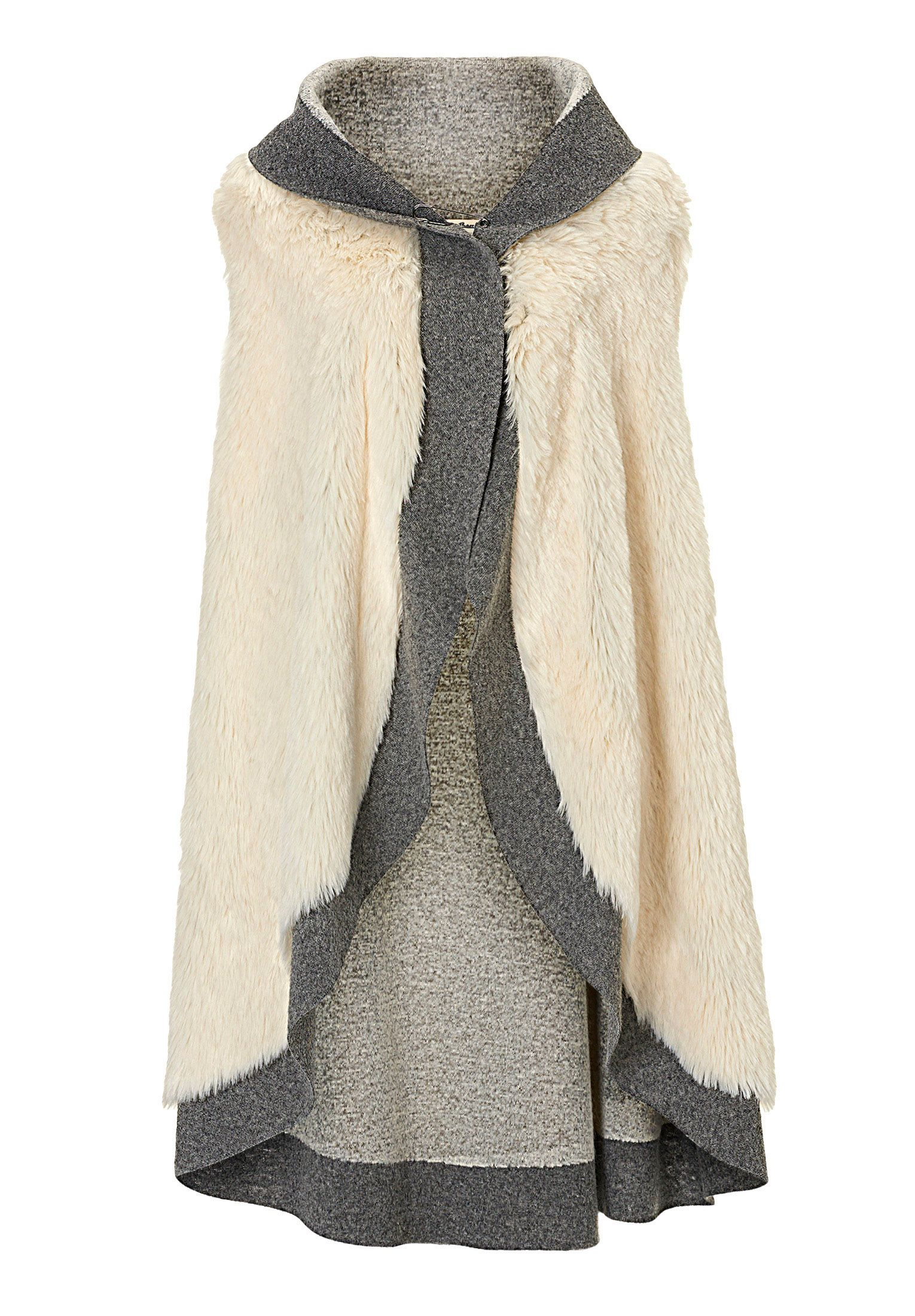 Betty Barclay Faux fur gilet, Grey