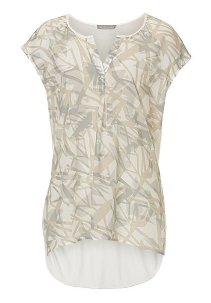 Betty & Co. Cap sleeved printed top
