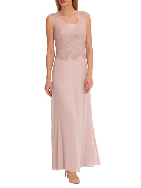 Vera Mont Embellished chiffon evening dress