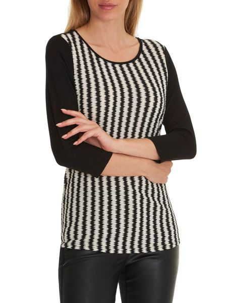 Betty Barclay Waffle striped top