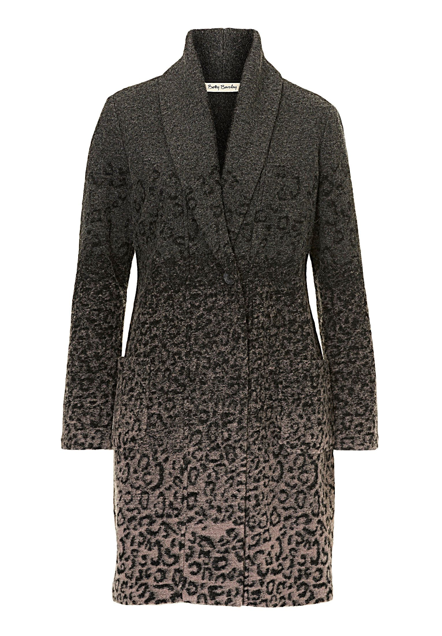 Betty Barclay Unlined animal print jacket, Grey