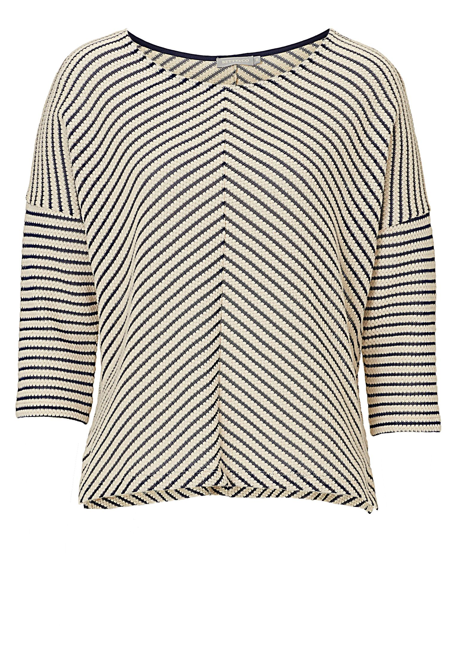 Betty & Co. Chevron striped top, Cream