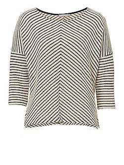 Chevron striped top