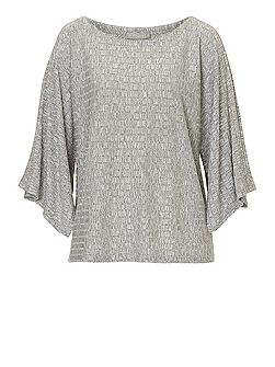 Textured fine knit top