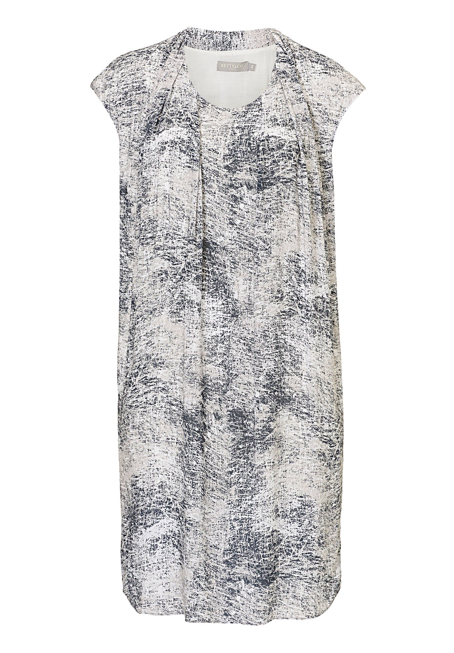 Betty & Co. Printed shift dress, Grey