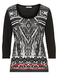 Betty Barclay Embellished printed top