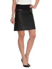 Betty Barclay Faux leather and suede skirt