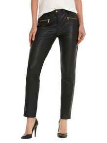 Betty Barclay Faux leather and suede trousers