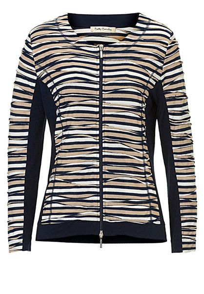 Betty Barclay Striped cardigan with zip