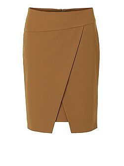 Wrapped pencil skirt