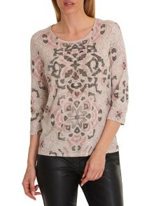 Betty Barclay Embellished printed T-shirt