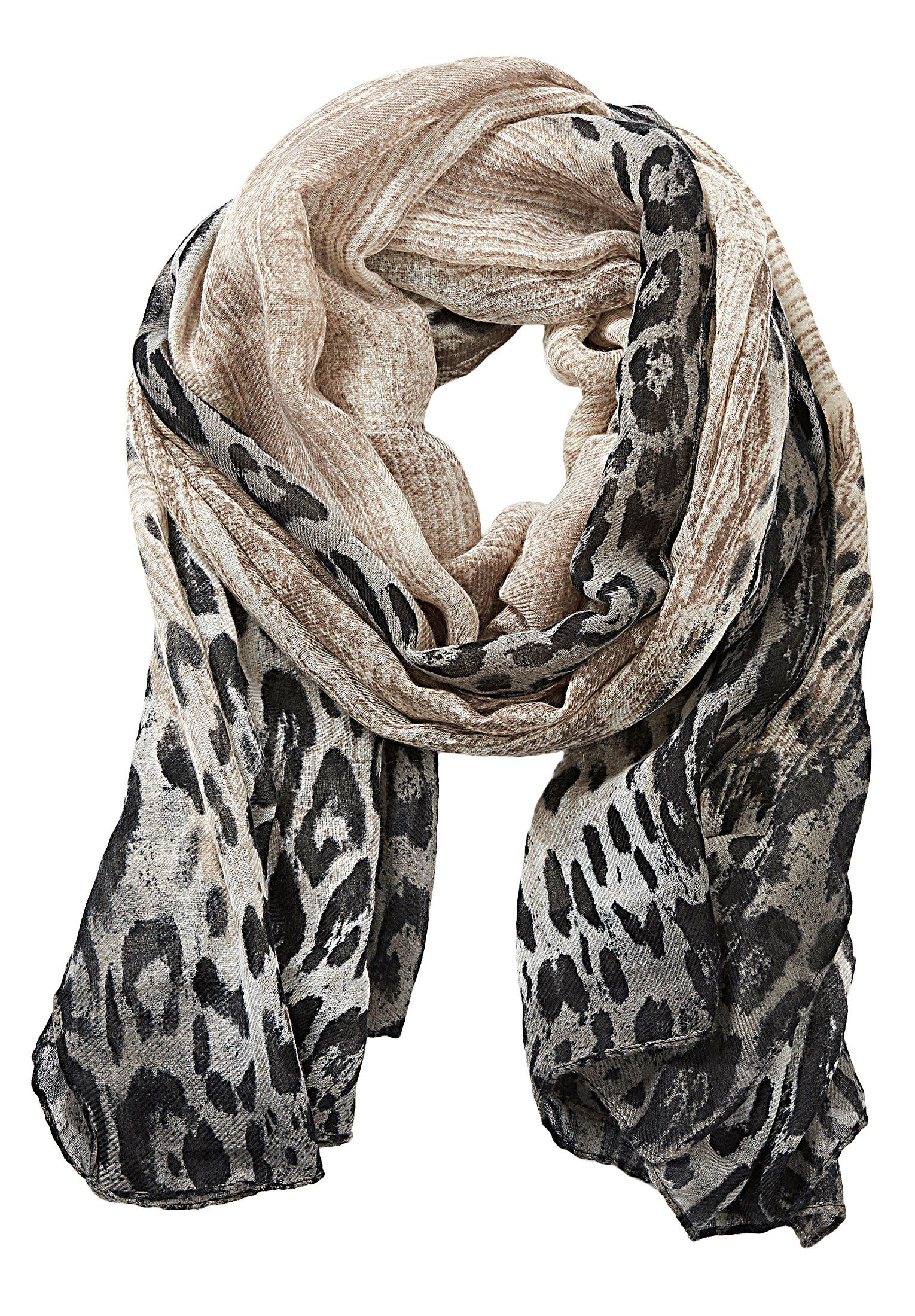 Betty Barclay Animal print scarf, White
