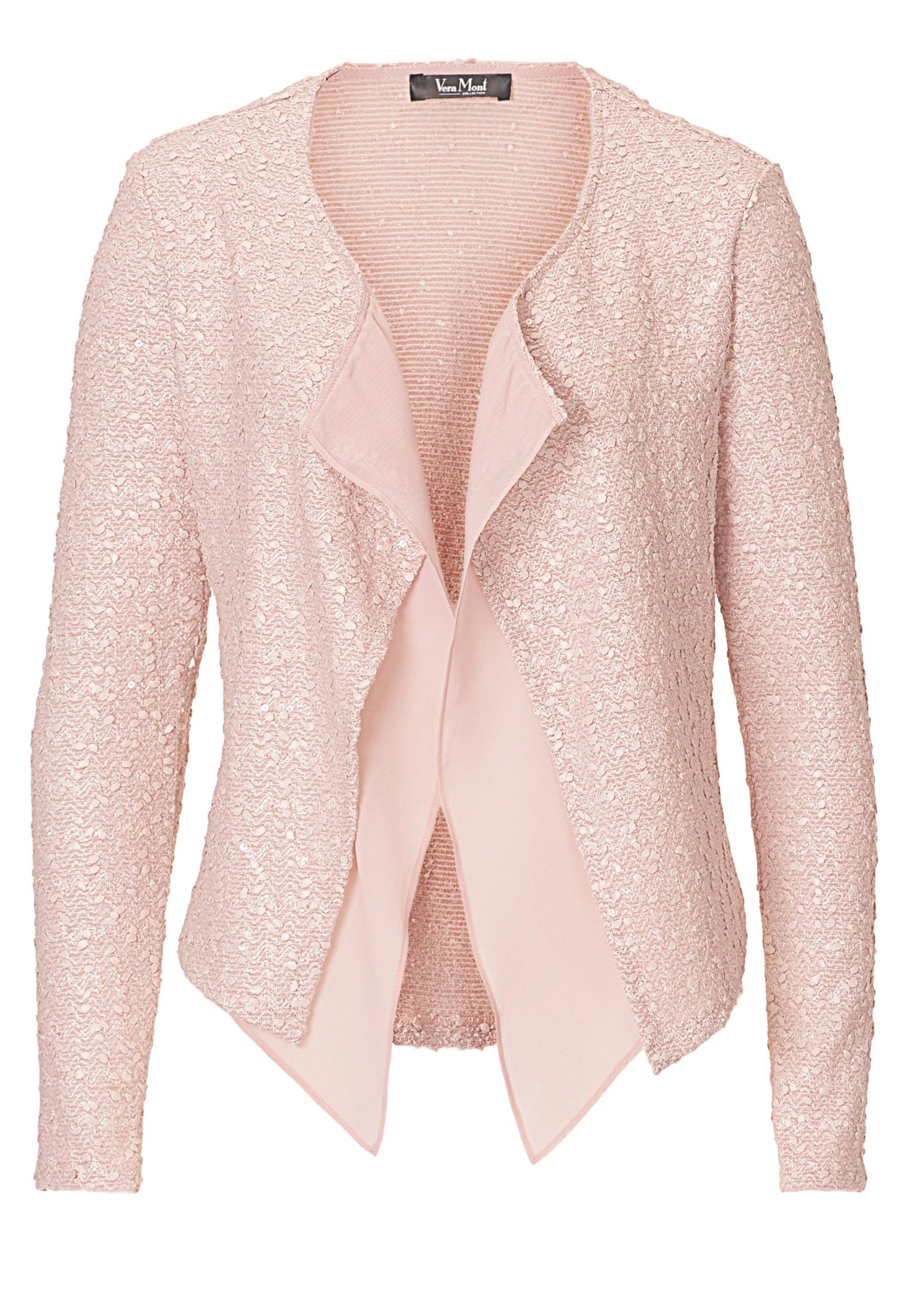 Vera Mont Textured waterfall jacket, White