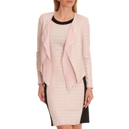 Vera Mont Textured waterfall jacket