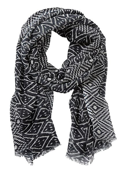 Betty Barclay Long abstract print scarf