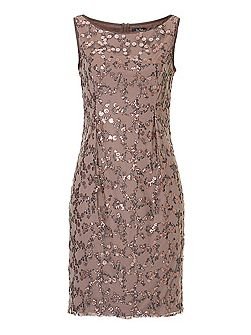 Net and sequin embellished dress