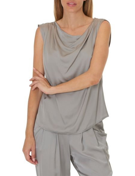 Betty & Co. Cowl neck shell top