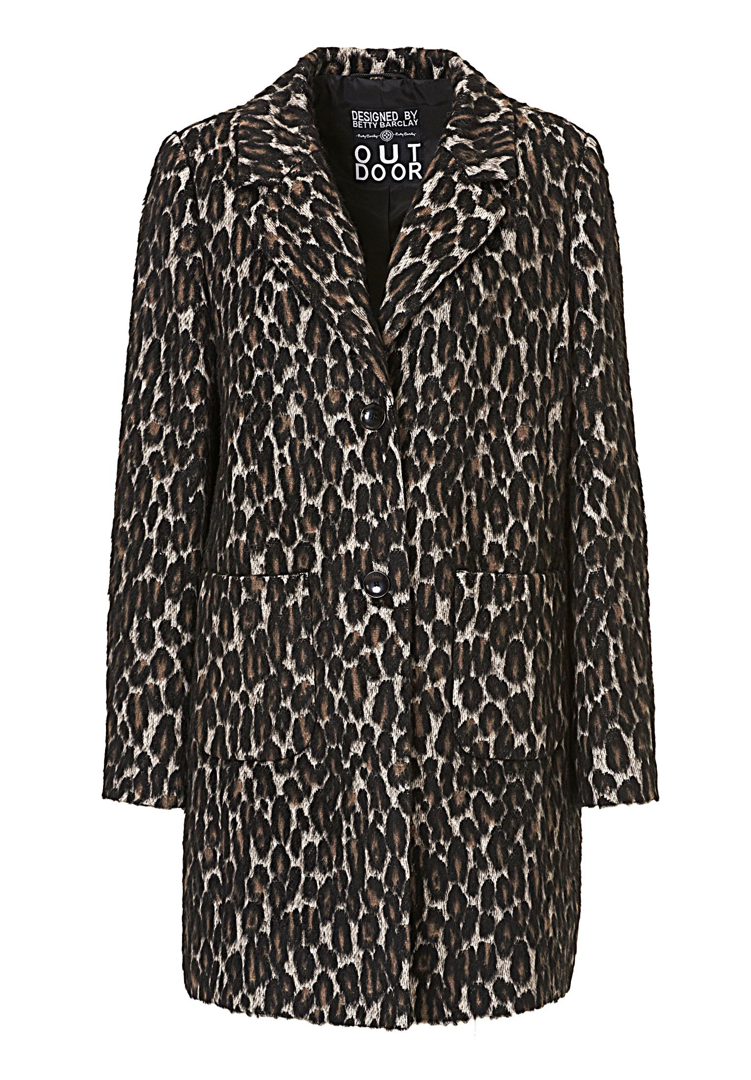 Betty Barclay Animal print coat, Cream