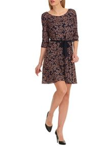 Vera Mont Embroidered dress with waist tie