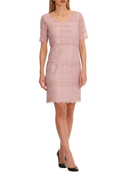 Vera Mont Tiered lace dress