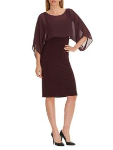 Vera Mont Layered chiffon and jersey dress