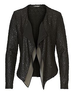 Textured waterfall jacket