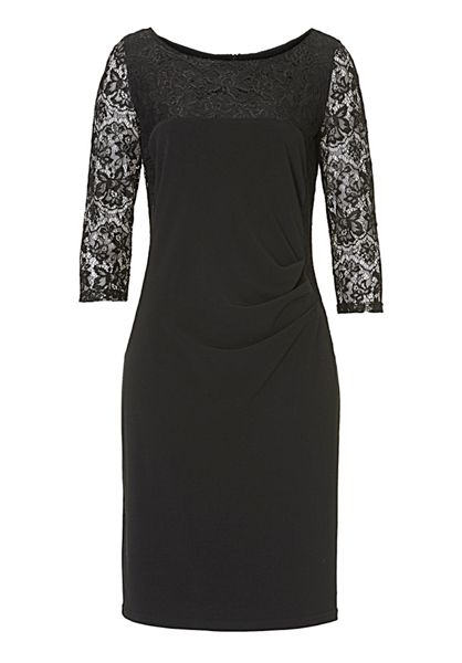 Vera Mont Lace panelled dress