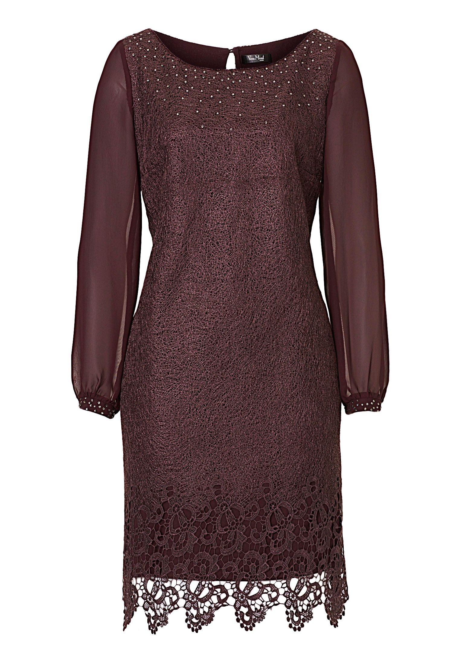 Vera Mont Web effect lace dress, Purple