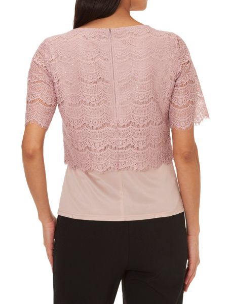 Vera Mont Lace layered top