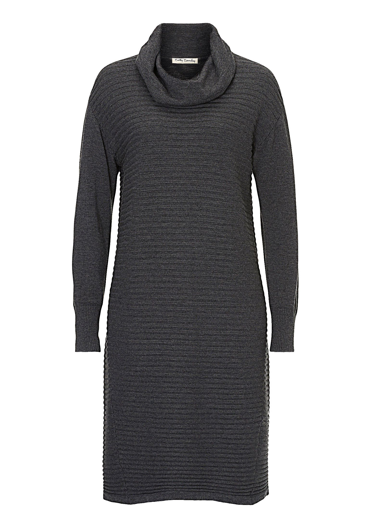 Betty Barclay Ribbed knitted dress, Grey