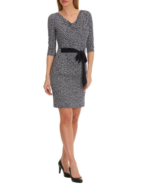 Vera Mont Cowl neck printed dress