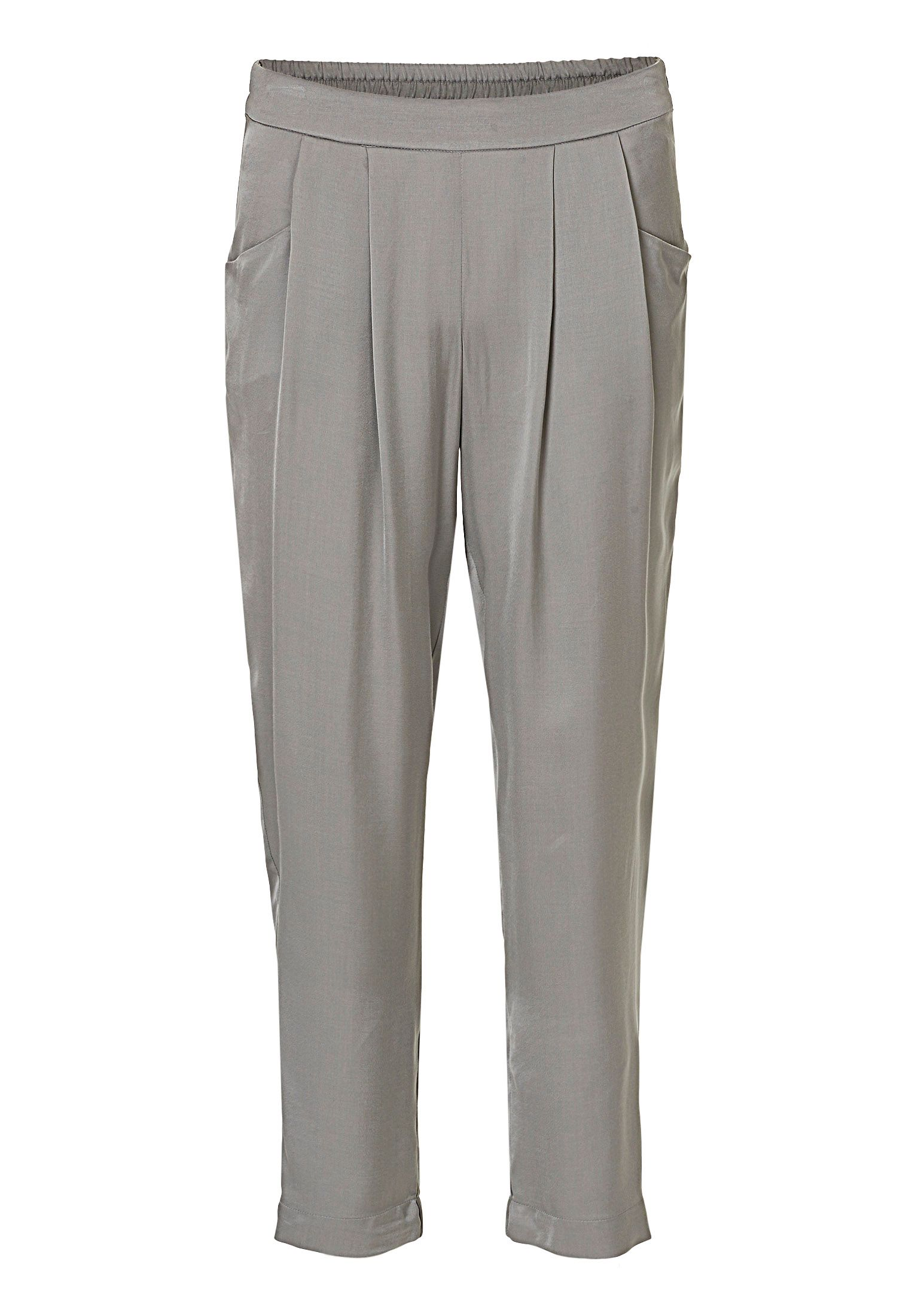 Betty & Co. Satin loose fit trousers, Grey