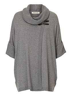 Oversize wrapped jumper