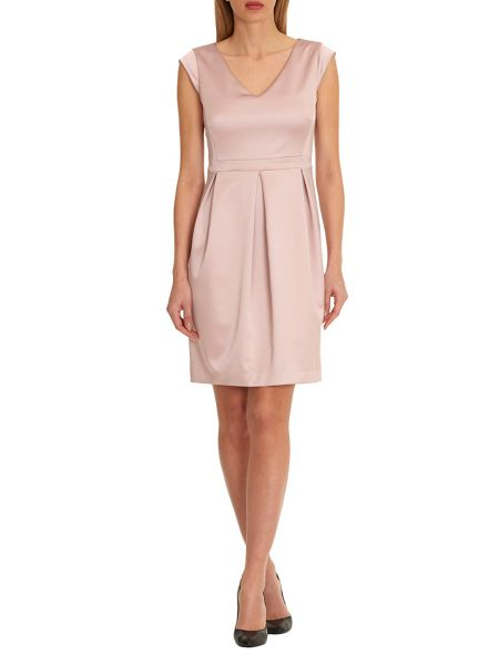 Vera Mont V-neck satin dress