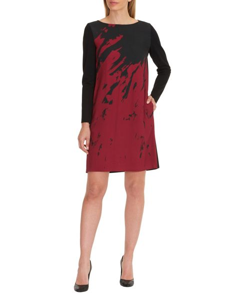 Vera Mont Graphic print jersey dress