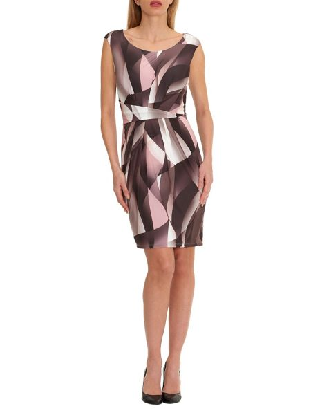 Vera Mont Graphic print sleeveless dress