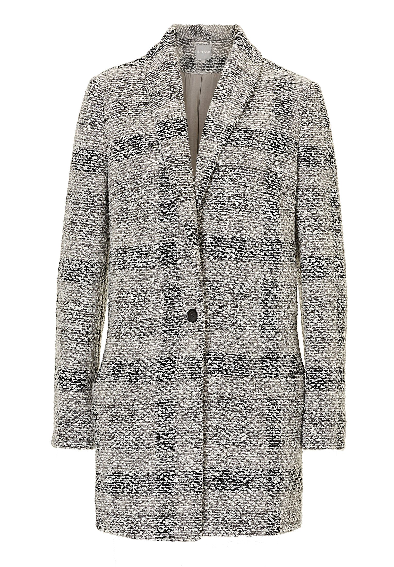 Betty & Co. Tweed cocoon coat, Grey
