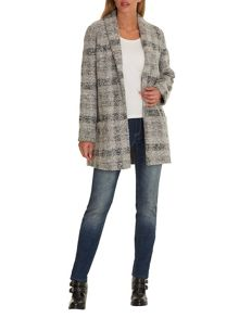 Betty & Co. Tweed cocoon coat