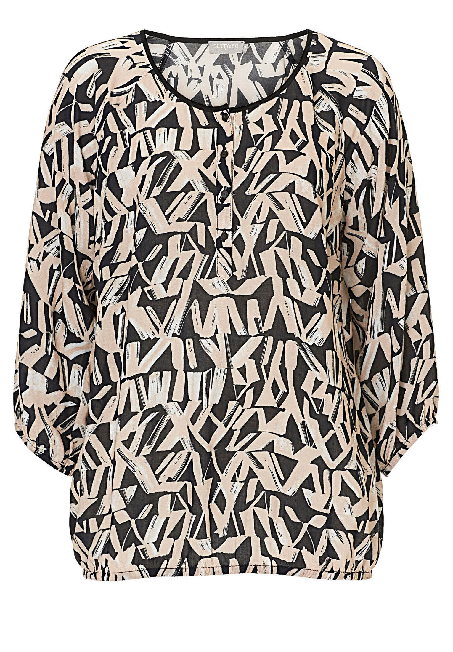 Betty & Co. Graphic print blouse, Black