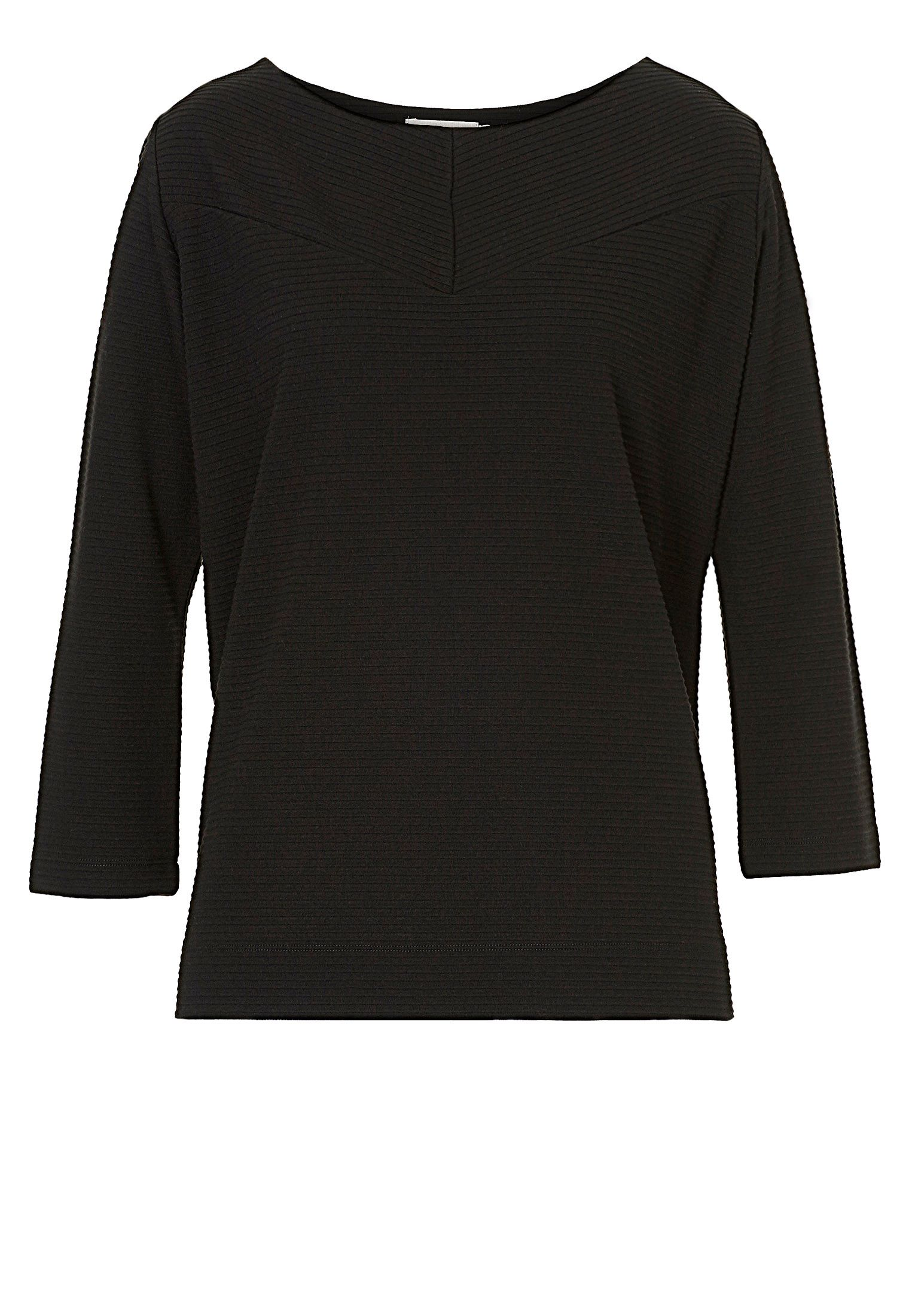 Betty & Co. Ribbed jersey top, Black
