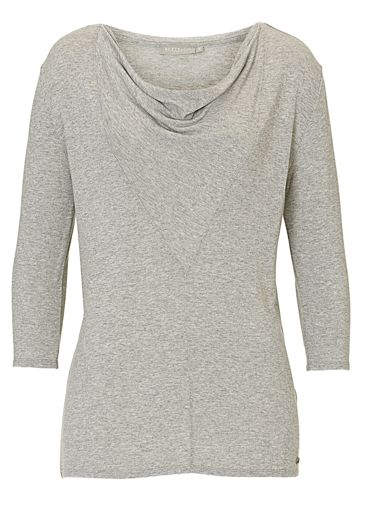 Betty & Co. Fine knit tunic top, Grey
