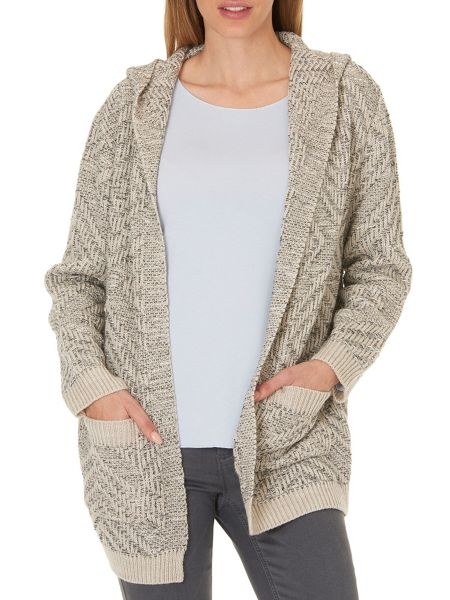 Betty & Co. Chunky knit hooded cardigan