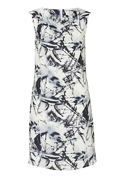 Betty & Co. Printed crêpe shift dress