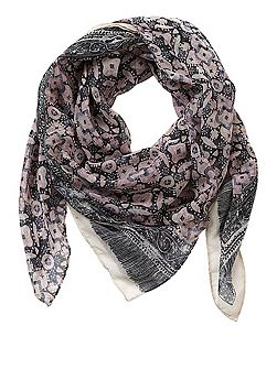 Square graphic print scarf
