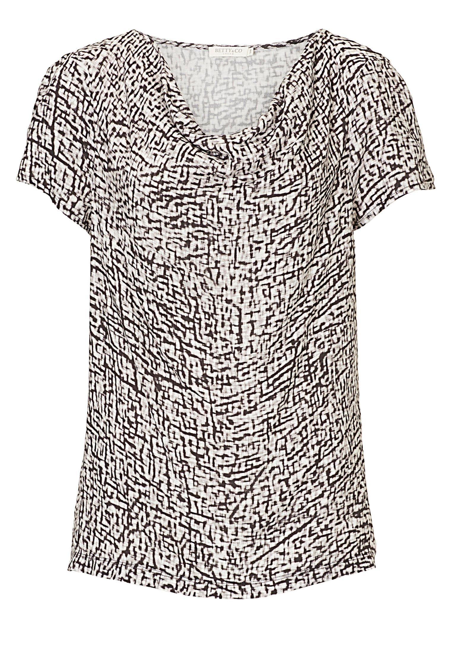 Betty & Co. Printed top, Grey