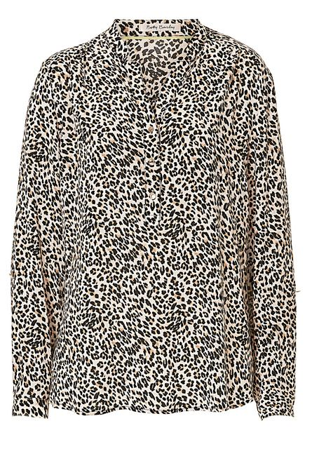 Betty Barclay Animal print blouse, Cream