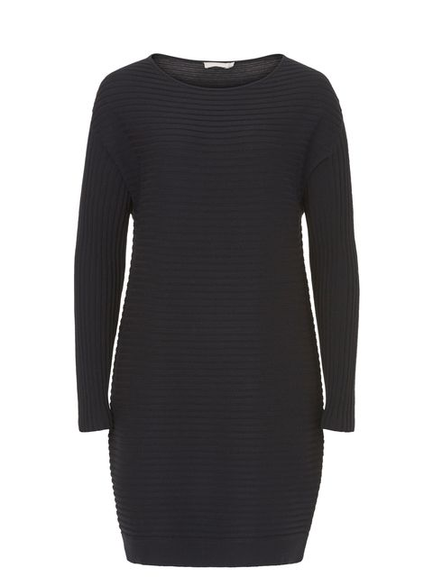 Betty Barclay Ribbed long sleeved dress, Blue